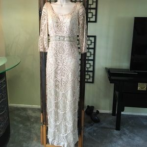 Sue Wong Nocturne Beaded Maxi Dress